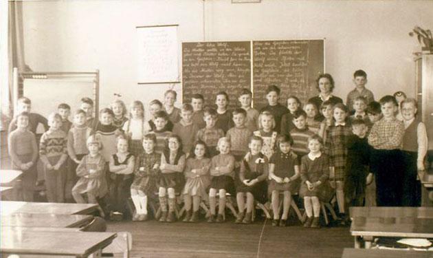 Historisches Klassenfoto