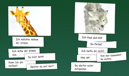 Giraffen- und Wolfsprache